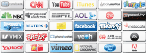 SPEEDbit Video Accelerator supports 165 sites - logo images